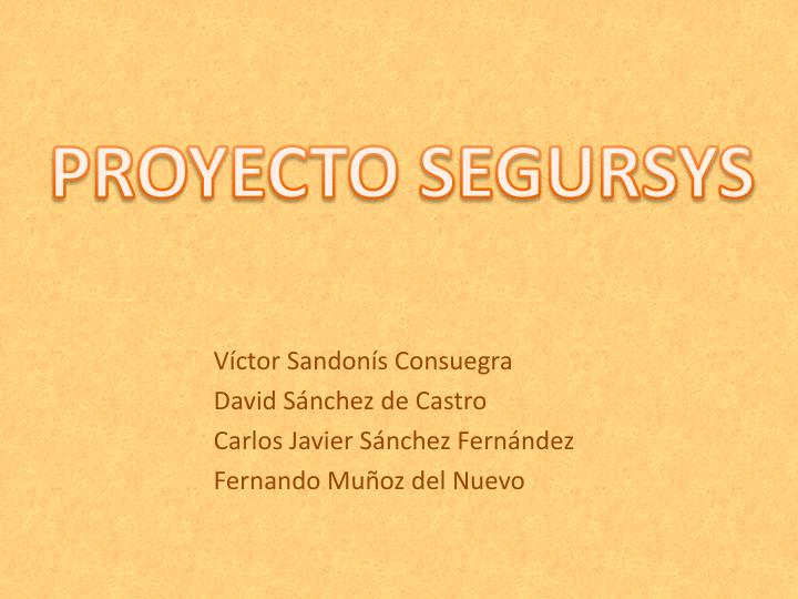 PROYECTO SEGURSYS