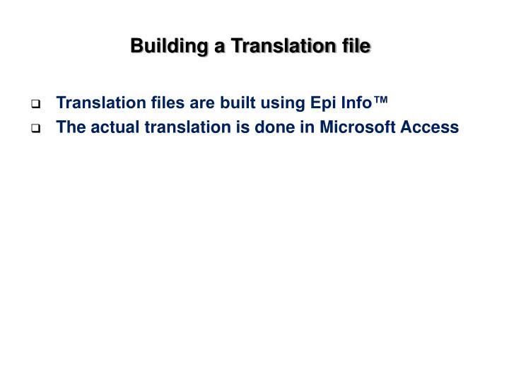 Building a Translation file
