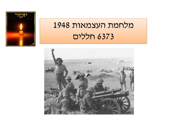 מלחמת העצמאות 1948