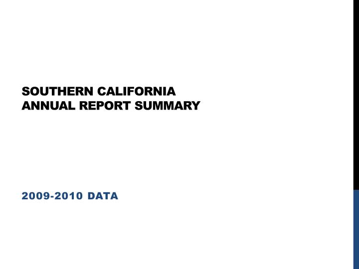 southern california annual report summary n.