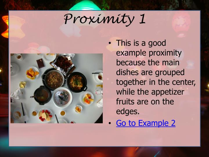 Proximity 1