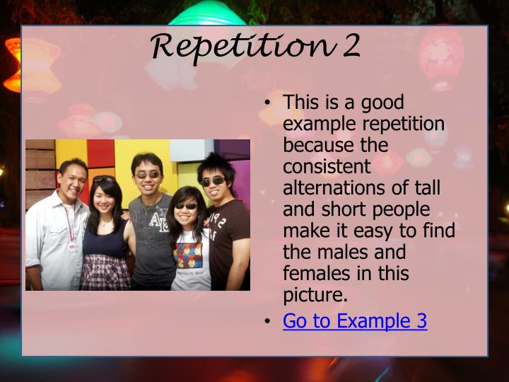 Repetition 2