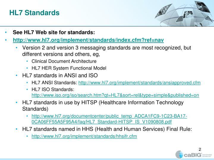 Hl7 standards
