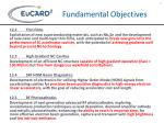 fundamental objectives
