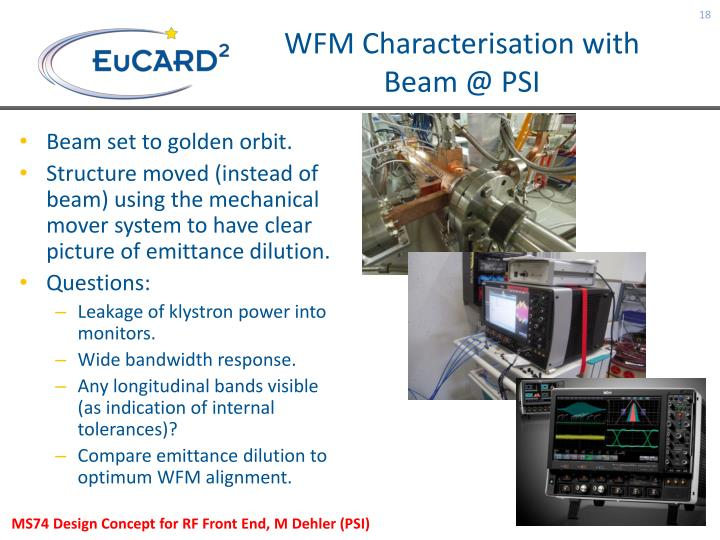 WFM Characterisation with Beam @ PSI