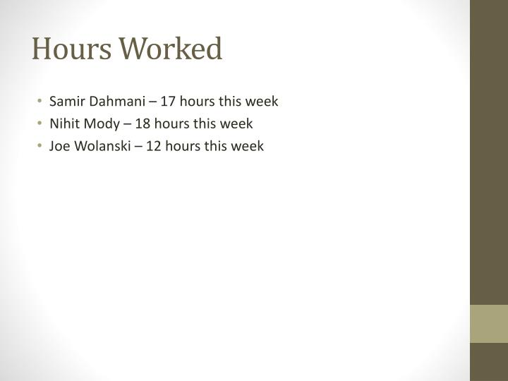 Hours Worked