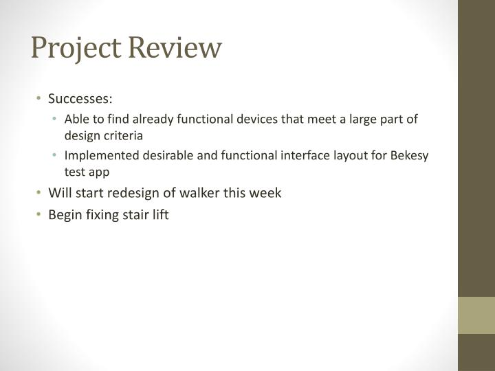 Project Review