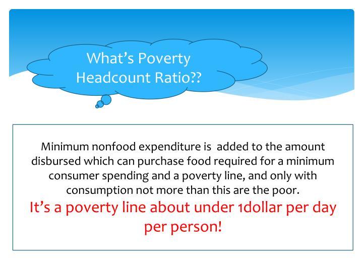 What's Poverty Headcount Ratio??