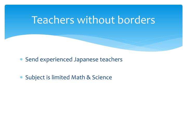 Teachers without