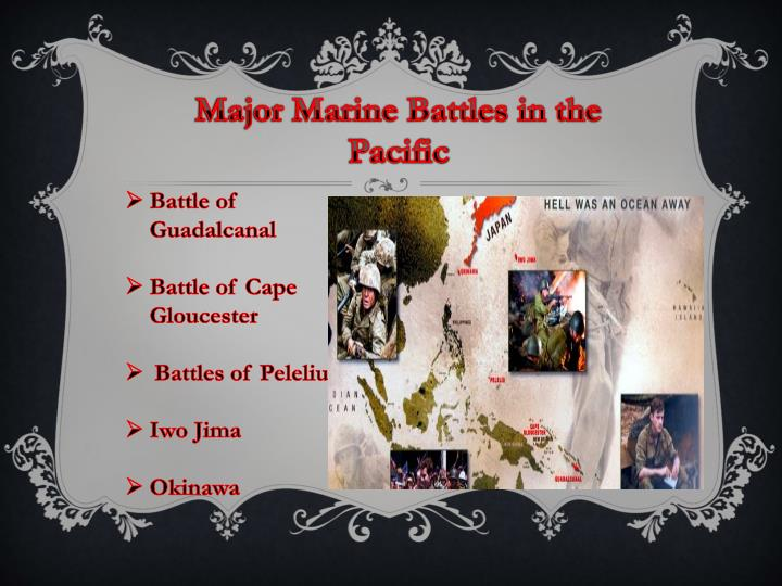 Major Marine Battles in the Pacific