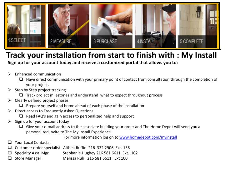 Track your installation from start to finish with : My Install
