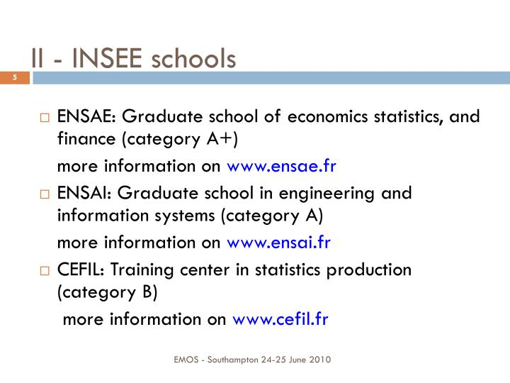 II - INSEE