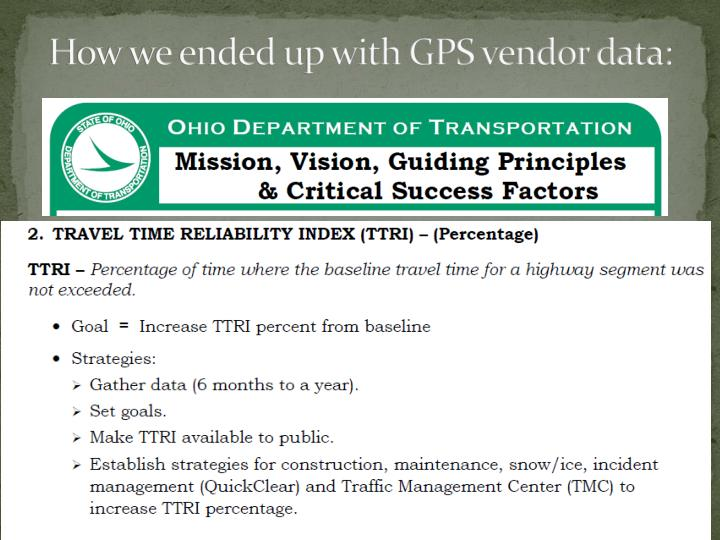 How we ended up with GPS vendor data: