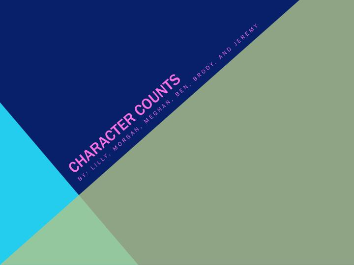 character counts n.
