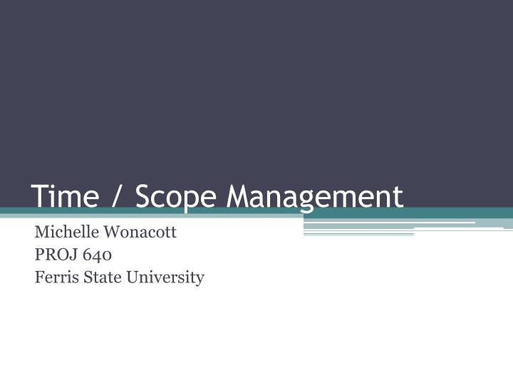 time scope management n.