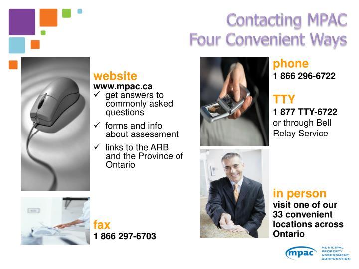 Contacting MPAC