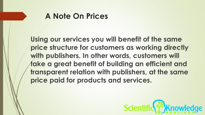 A Note On Prices