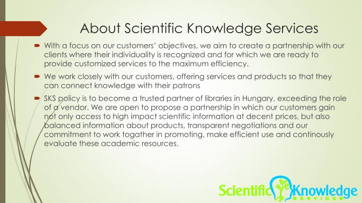 About scientific knowledge services1