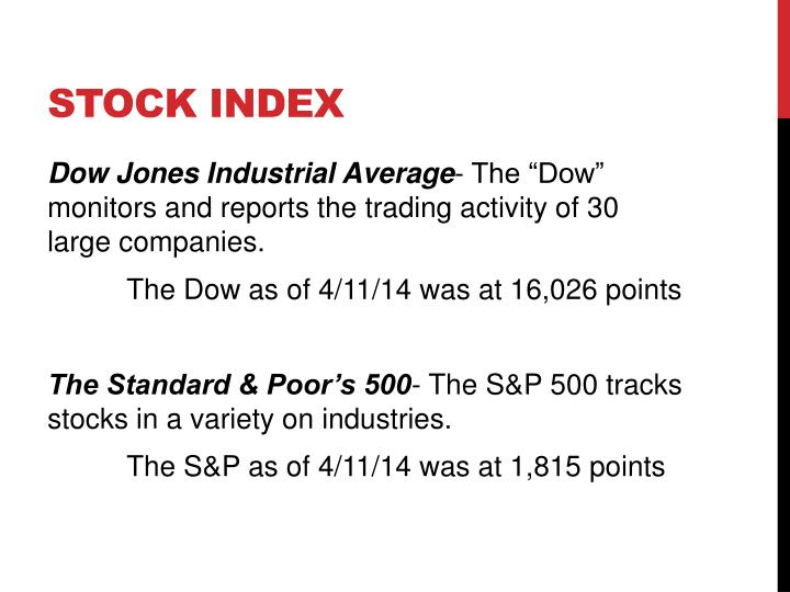 Stock index
