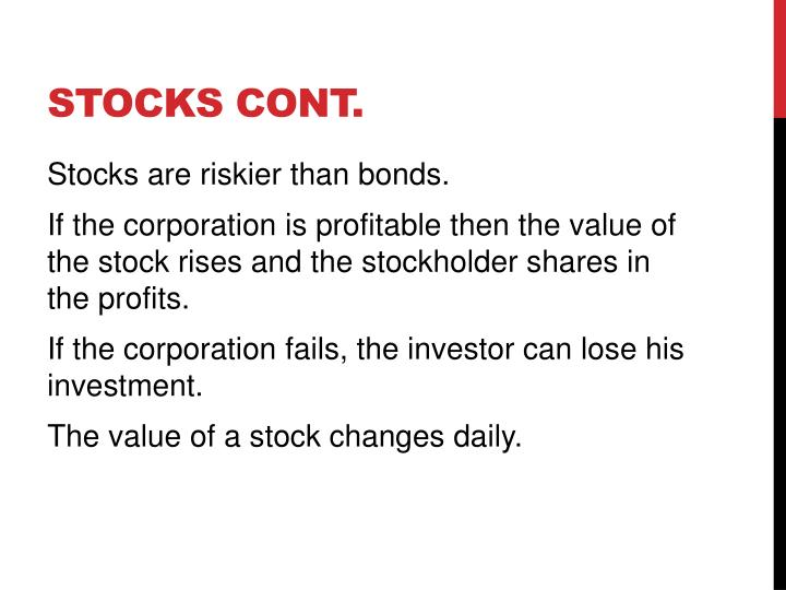 Stocks cont.