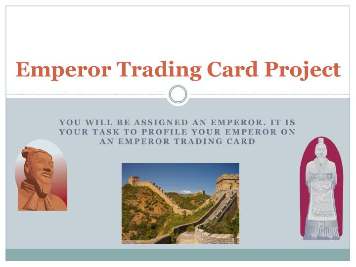 emperor trading card project n.