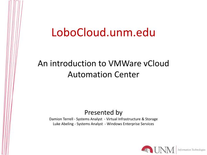 Lobocloud unm edu