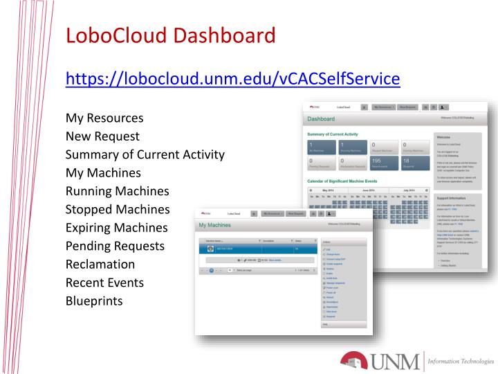 LoboCloud Dashboard