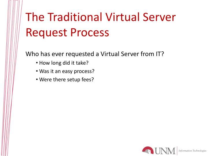 The Traditional Virtual Server Request Process