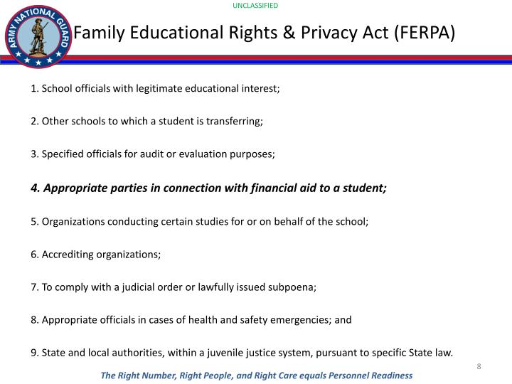 Family Educational Rights & Privacy Act (FERPA)