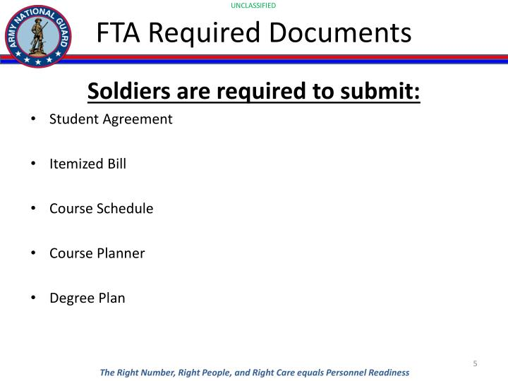 FTA Required Documents