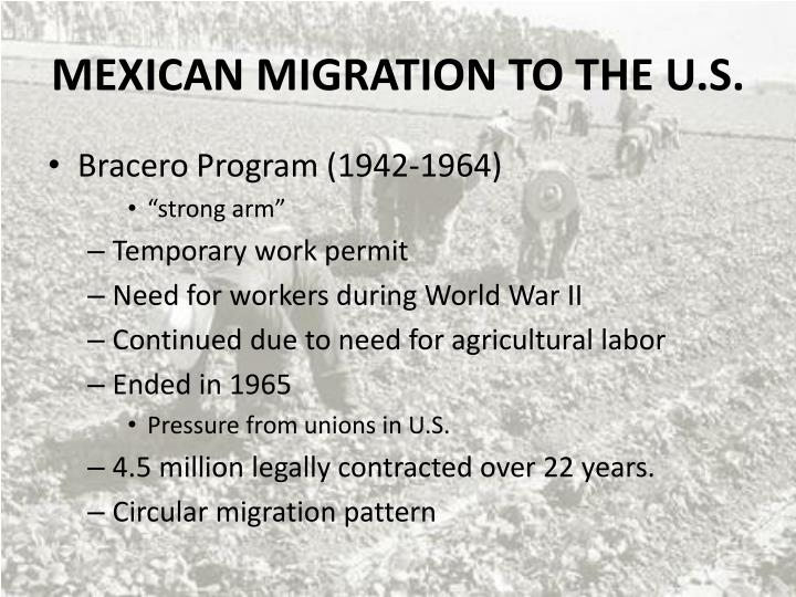 mexican migration to the u s n.