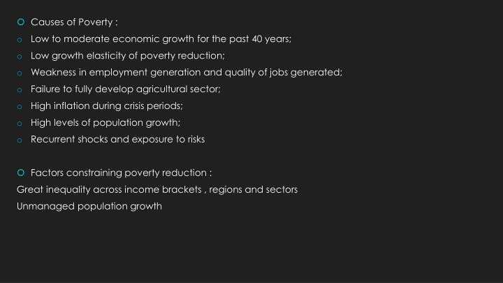 Causes of Poverty :