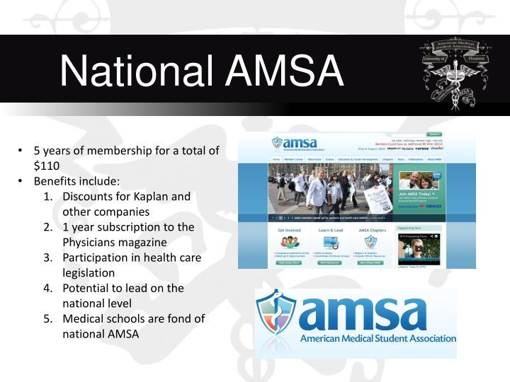 National AMSA