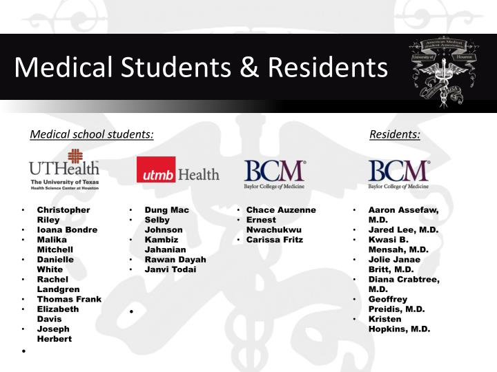 Medical Students & Residents