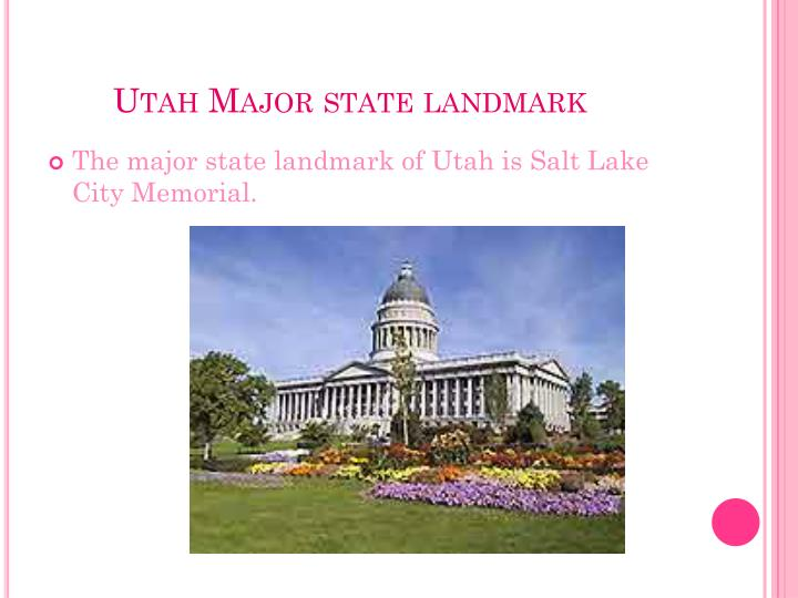Utah Major state landmark