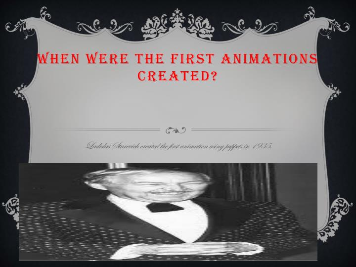 When were the first animations created