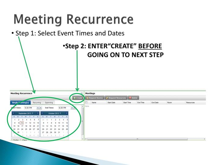 Meeting Recurrence
