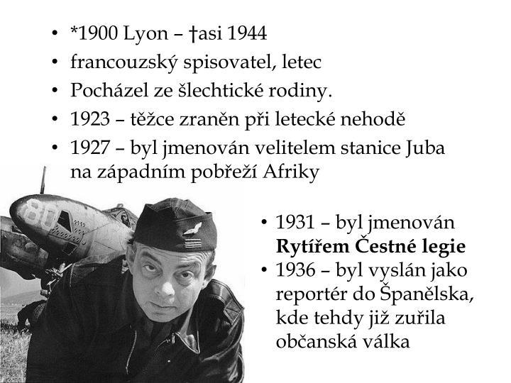 *1900 Lyon – †asi 1944