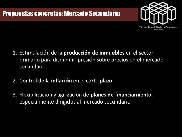 Propuestas concretas: Mercado Secundario