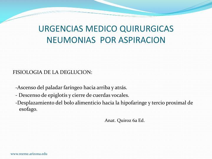 URGENCIAS MEDICO QUIRURGICAS