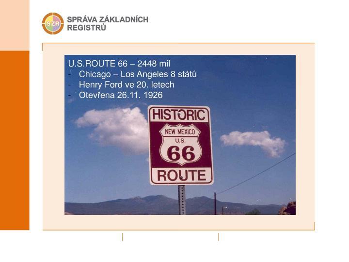 U.S.ROUTE 66 – 2448 mil