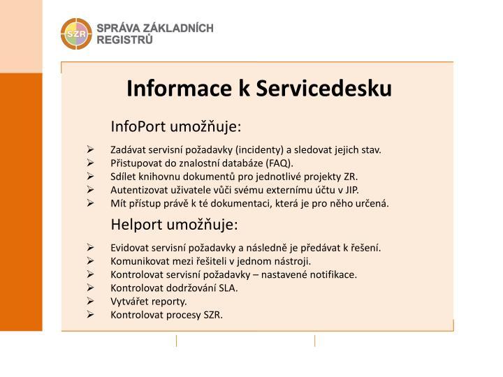 Informace k