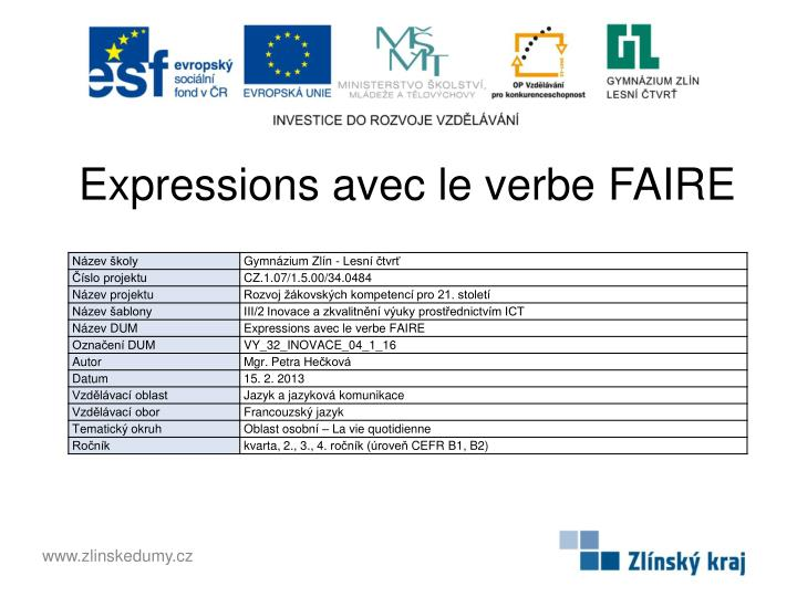 Ppt Expressions Avec Le Verbe Faire Powerpoint Presentation Free Download Id 3239654