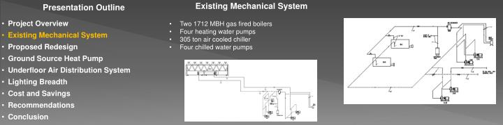 Existing Mechanical System