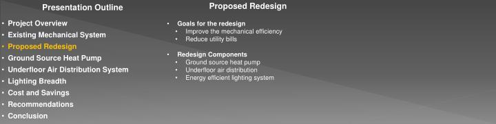 Proposed Redesign