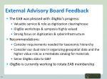external advisory board feedback