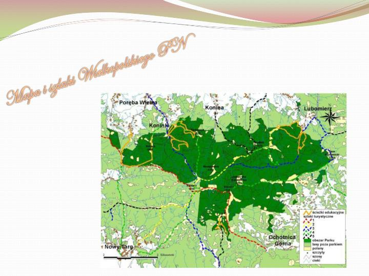 Mapa i szlaki Wielkopolskiego PN
