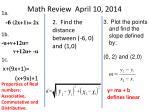 math review april 10 2014