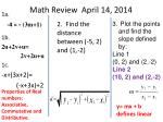 math review april 14 2014