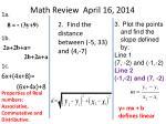 math review april 16 2014